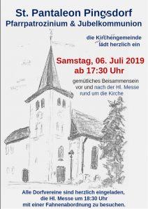 Pfarrpatrozinium und Jubelkommunion 2019